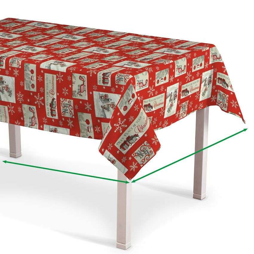 Rectangular tablecloth in collection Christmas , fabric: 629-07