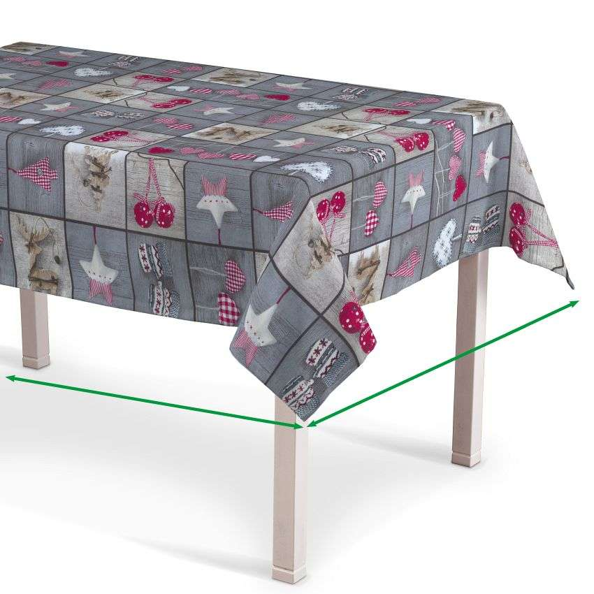 Rectangular tablecloth in collection Christmas, fabric: 629-20
