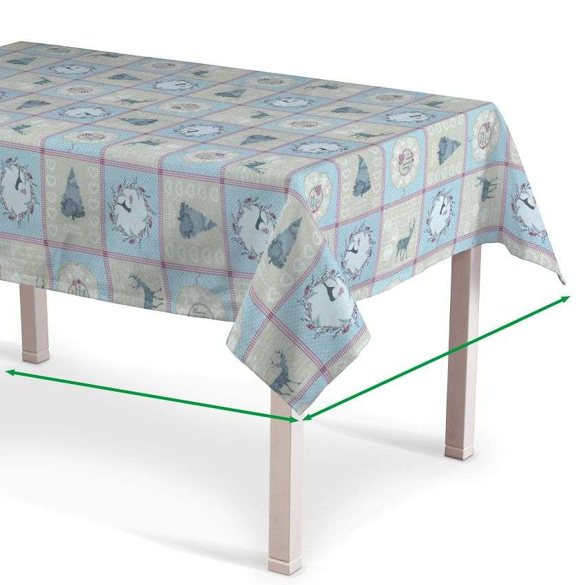 Rectangular tablecloth in collection Christmas , fabric: 629-21