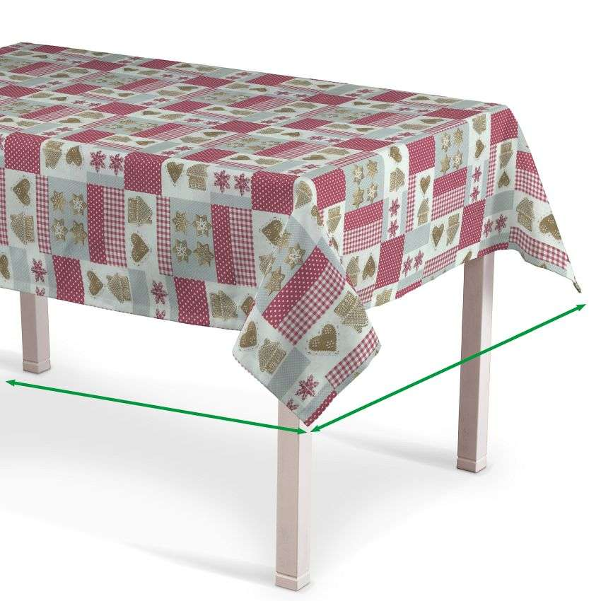 Rectangular tablecloth in collection Christmas , fabric: 629-22