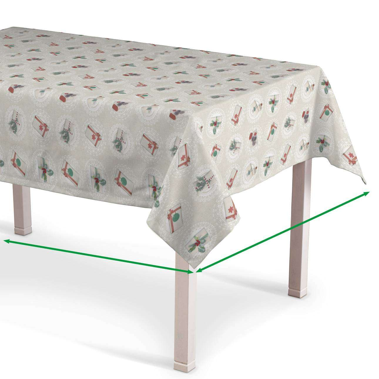 Rectangular tablecloth in collection Christmas , fabric: 629-30