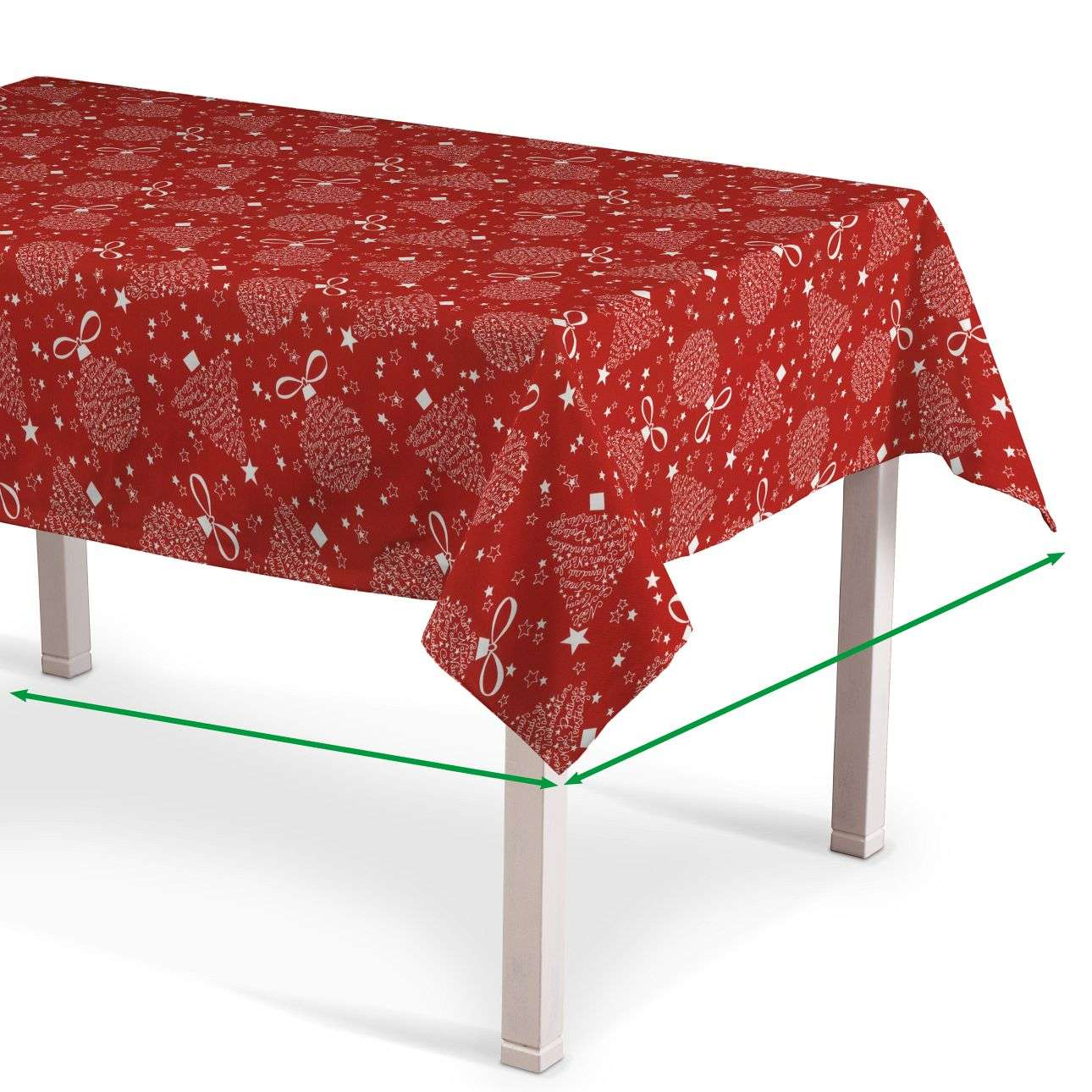 Rectangular tablecloth in collection Christmas, fabric: 629-32