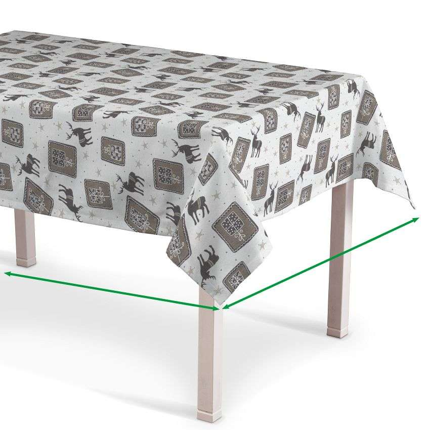 Rectangular tablecloth in collection Nordic, fabric: 630-10