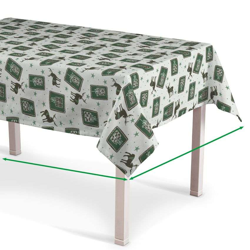Rectangular tablecloth in collection Nordic, fabric: 630-13