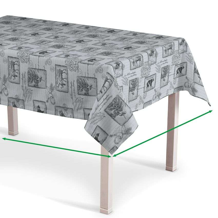 Rectangular tablecloth in collection Nordic, fabric: 630-18