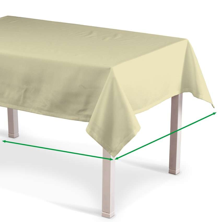 Rectangular tablecloth in collection Cotton Panama, fabric: 702-29