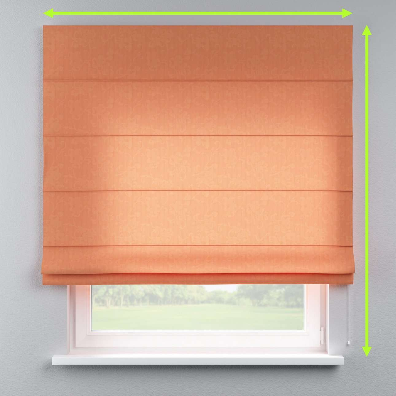 Capri roman blind in collection Taffeta , fabric: 103-98