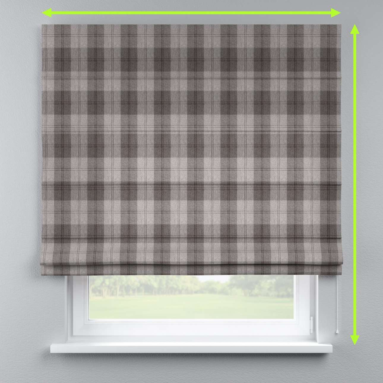 Capri roman blind in collection Edinburgh , fabric: 115-75
