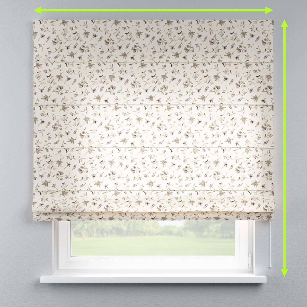 Capri roman blind in collection Londres, fabric: 122-04