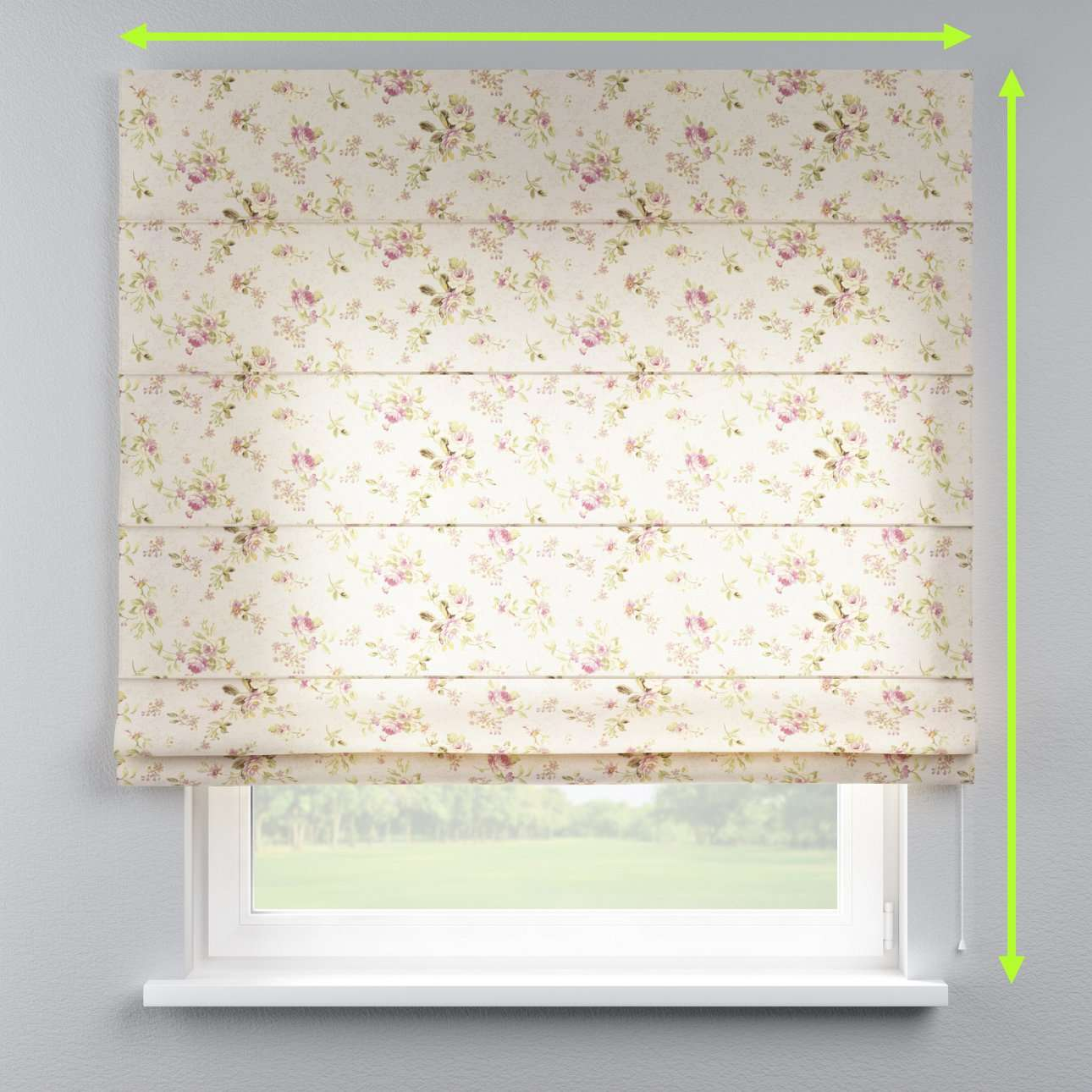 Capri roman blind in collection Londres, fabric: 122-07
