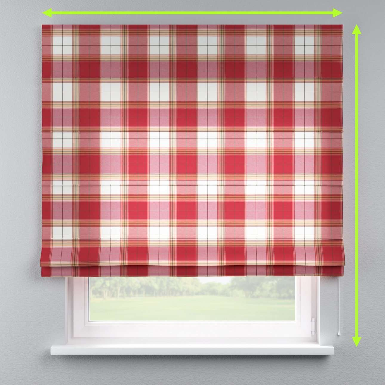 Capri roman blind in collection Bristol, fabric: 125-15