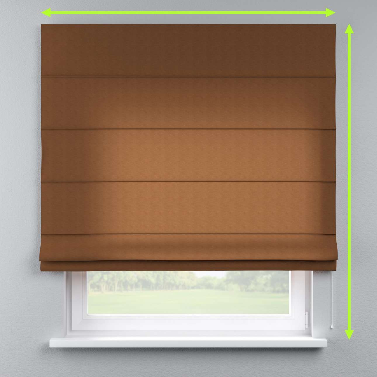 Capri roman blind in collection Jupiter, fabric: 127-88