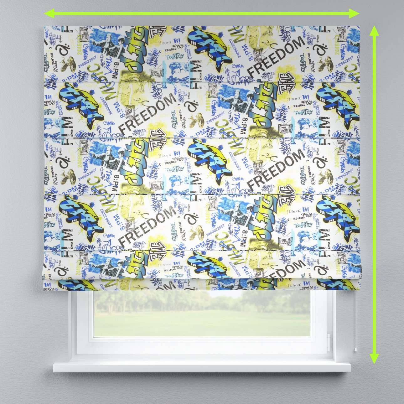 Capri roman blind in collection Freestyle, fabric: 135-08
