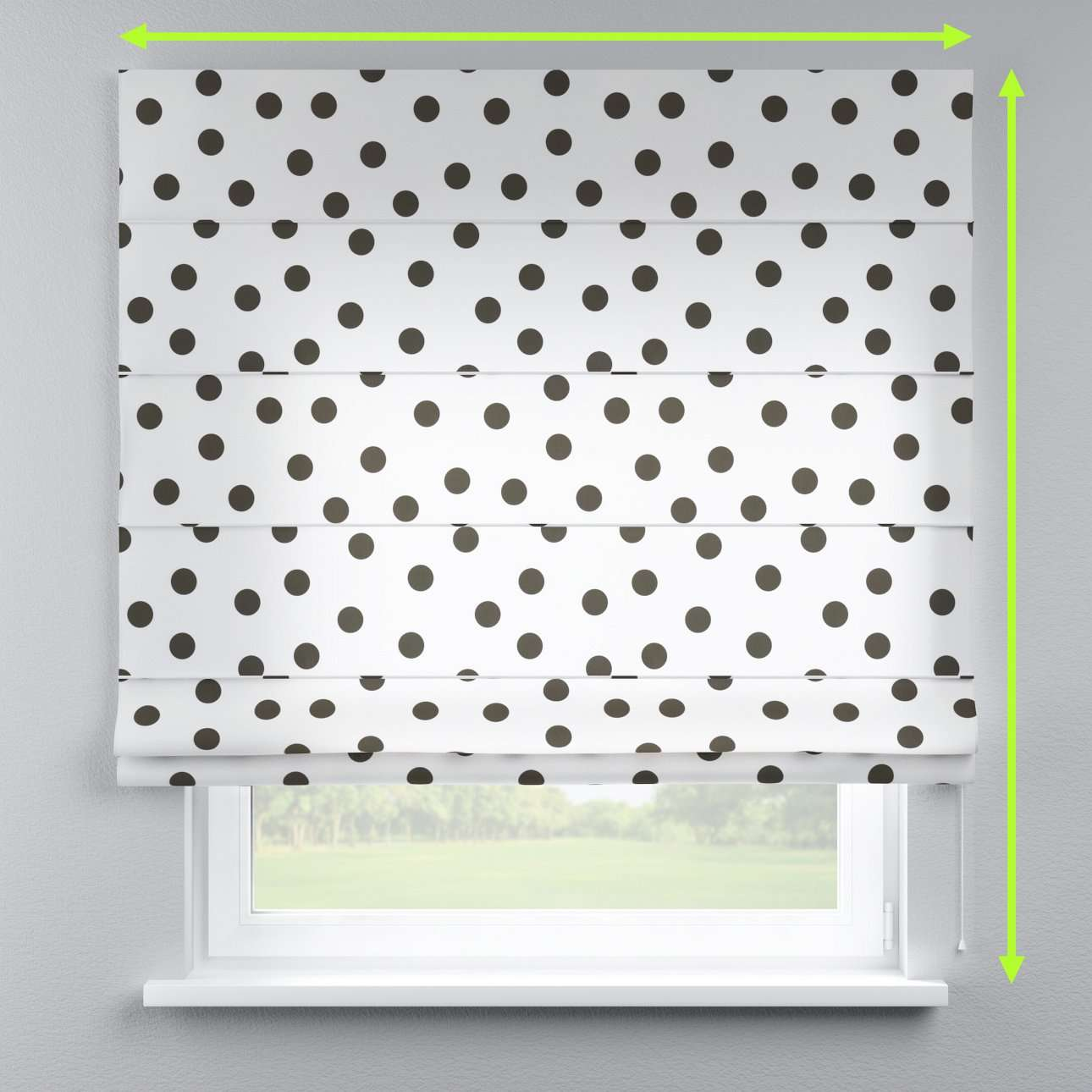 Capri roman blind in collection Comic Book & Geo Prints, fabric: 135-13