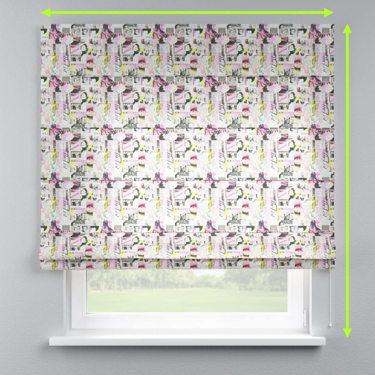 Capri roman blind in collection Freestyle, fabric: 135-15