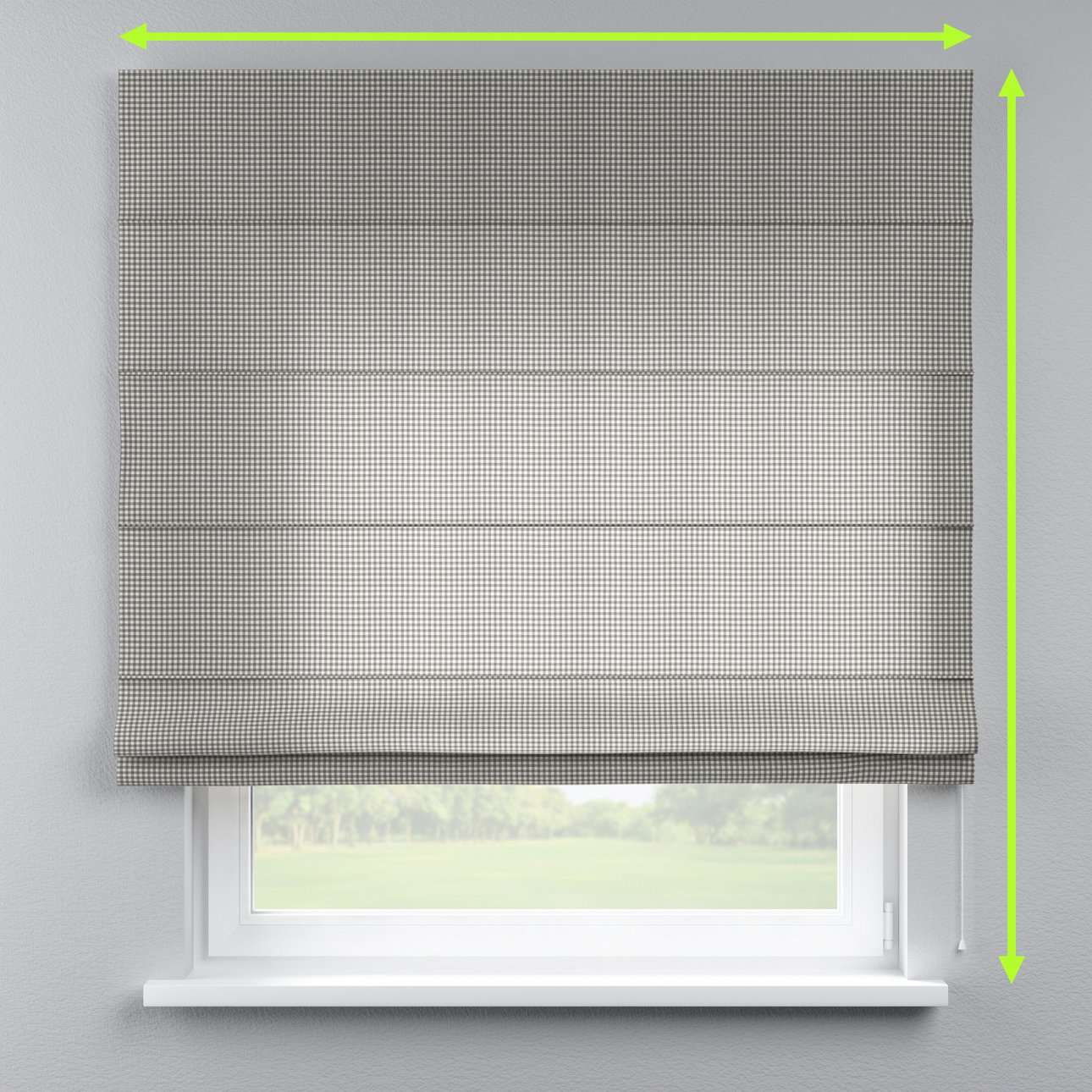 Capri roman blind in collection Quadro, fabric: 136-10