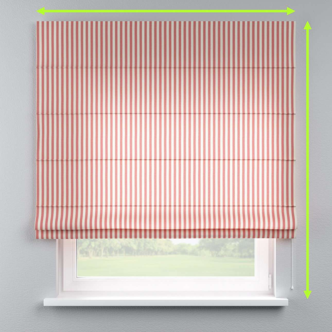 Capri roman blind in collection Quadro, fabric: 136-17