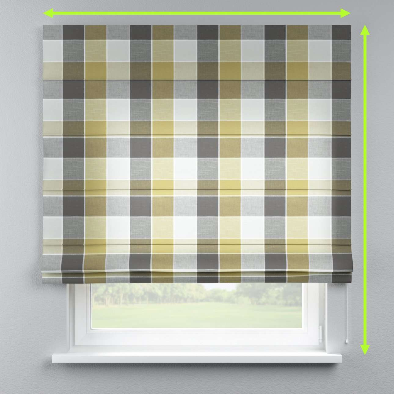 Capri roman blind in collection Cardiff, fabric: 136-20