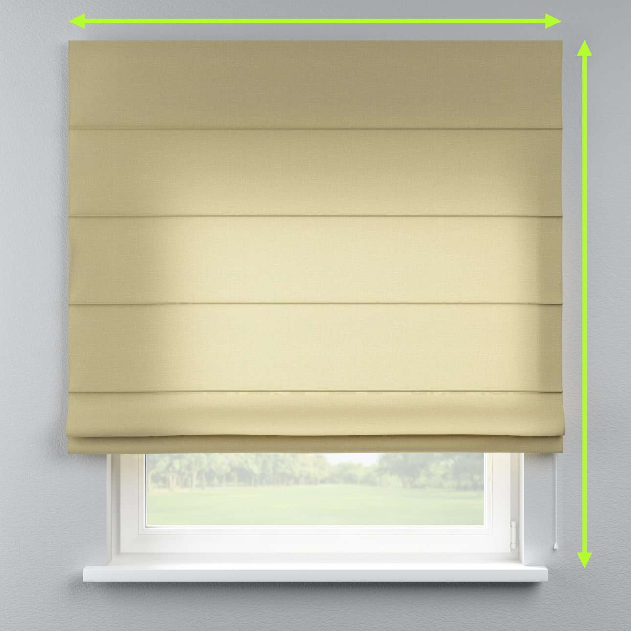 Capri roman blind in collection Cardiff, fabric: 136-22