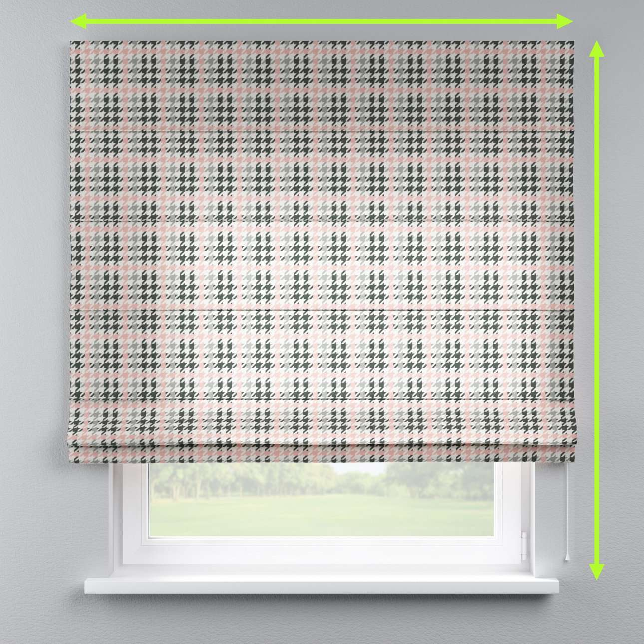 Capri roman blind in collection Brooklyn, fabric: 137-75