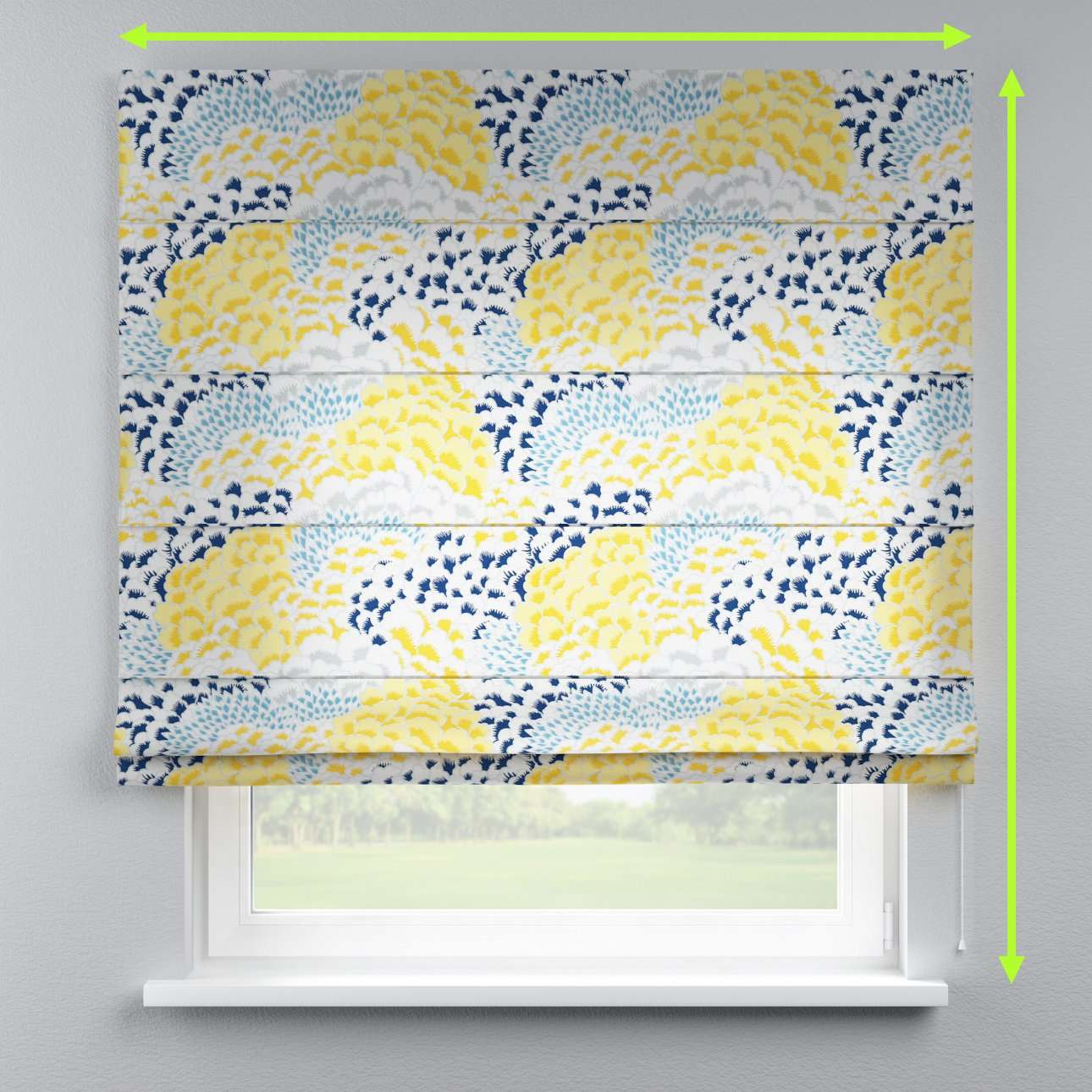 Capri roman blind in collection Brooklyn, fabric: 137-86