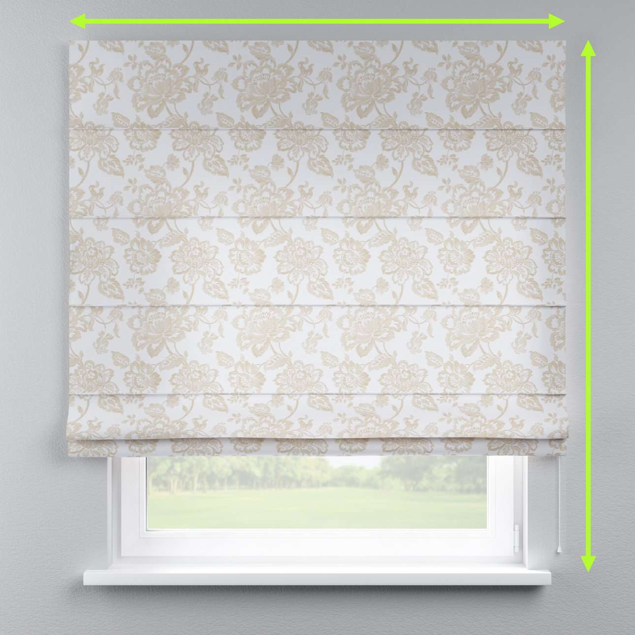 Capri roman blind in collection Rustica, fabric: 138-23