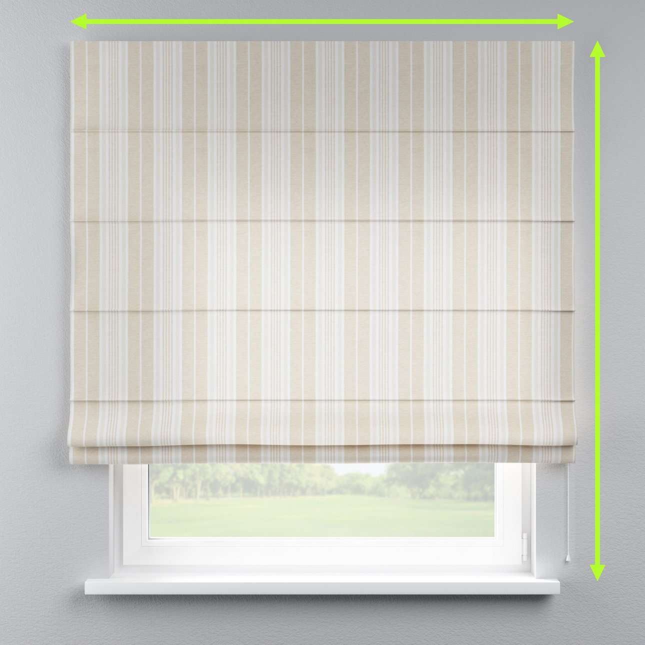Capri roman blind in collection Rustica, fabric: 138-24
