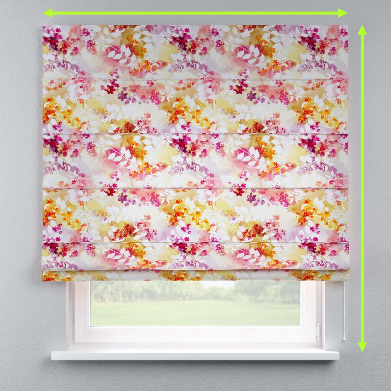 Capri roman blind in collection Monet, fabric: 140-05