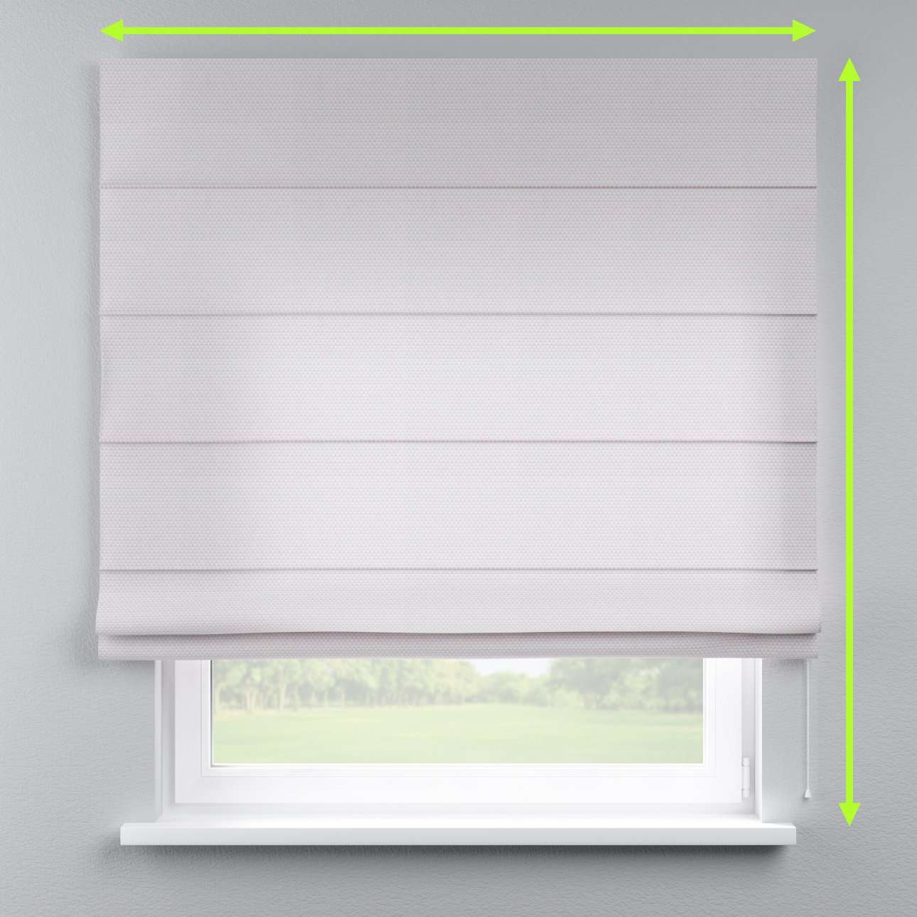 Capri roman blind in collection Rustica, fabric: 140-28