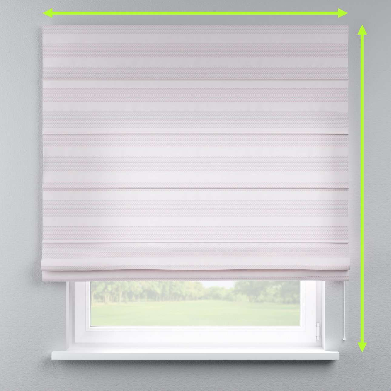 Capri roman blind in collection Rustica, fabric: 140-29