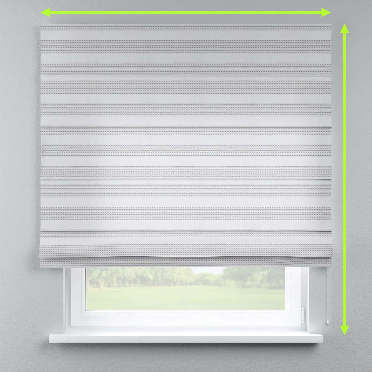 Capri roman blind in collection Rustica, fabric: 140-32