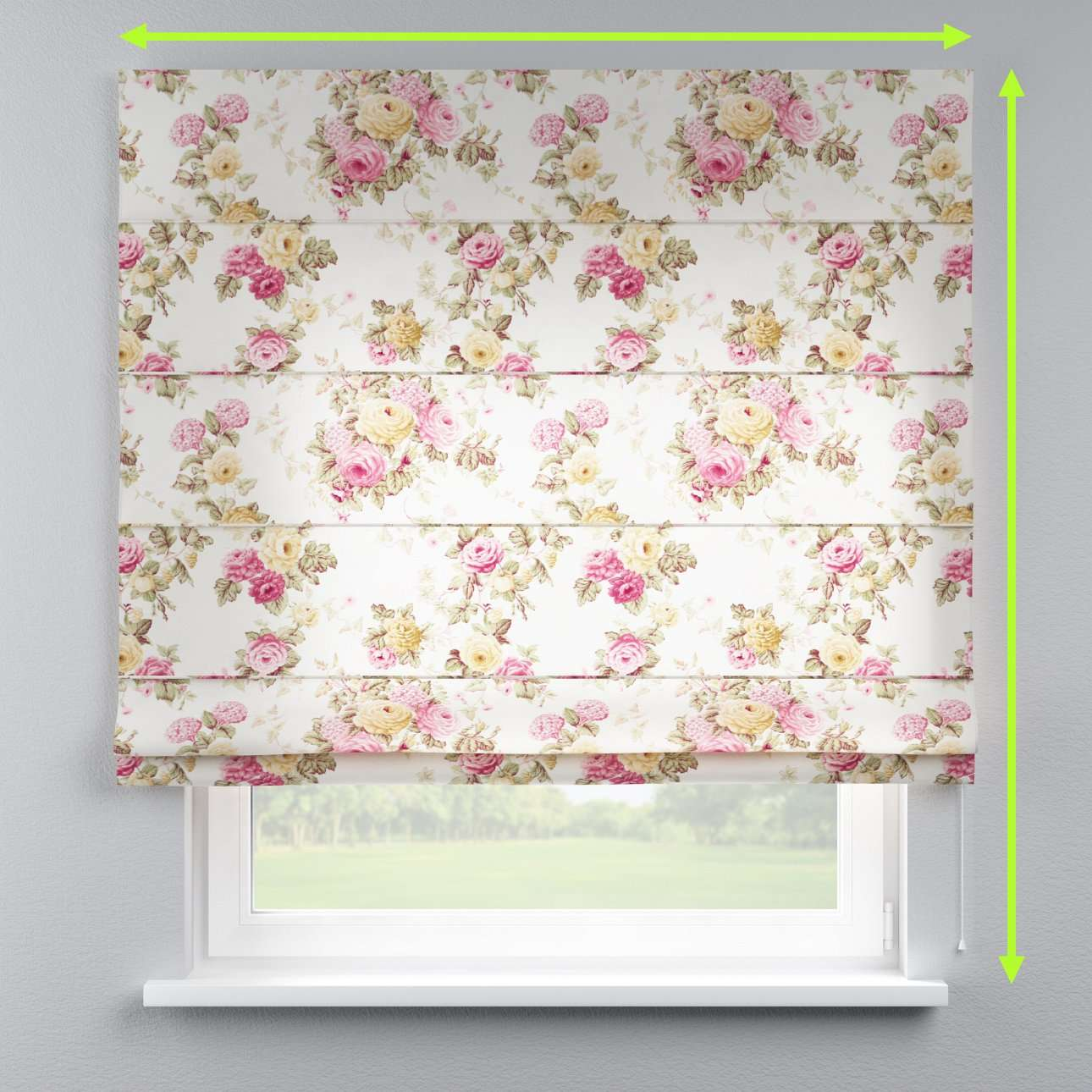 Capri roman blind in collection Mirella, fabric: 140-40