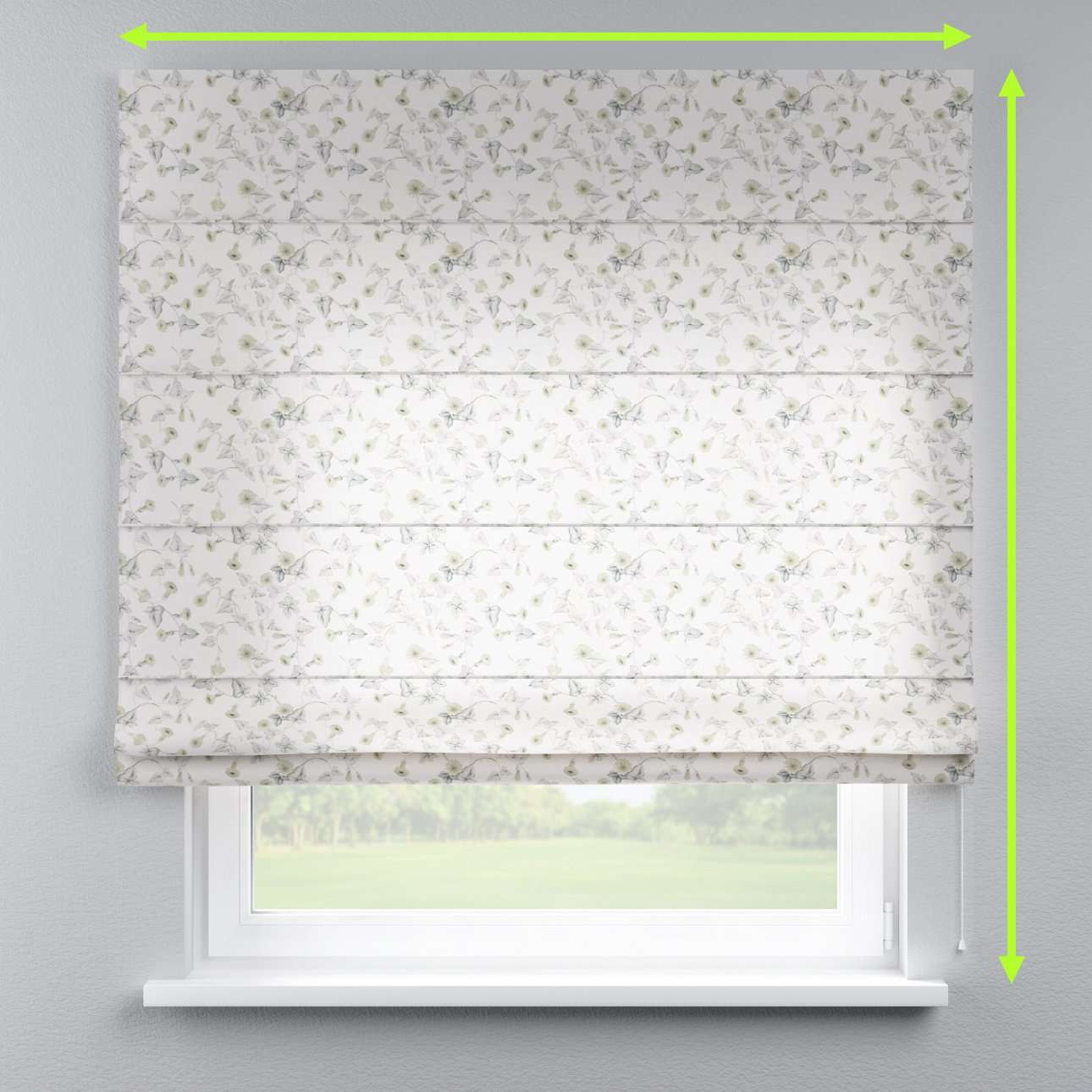 Capri roman blind in collection Mirella, fabric: 140-42