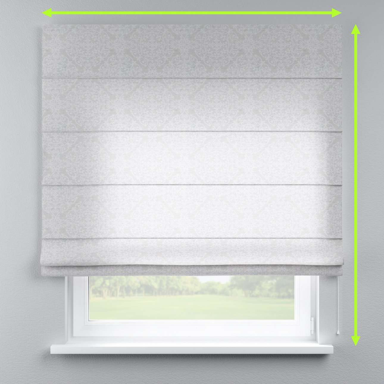 Capri roman blind in collection Venice, fabric: 140-49