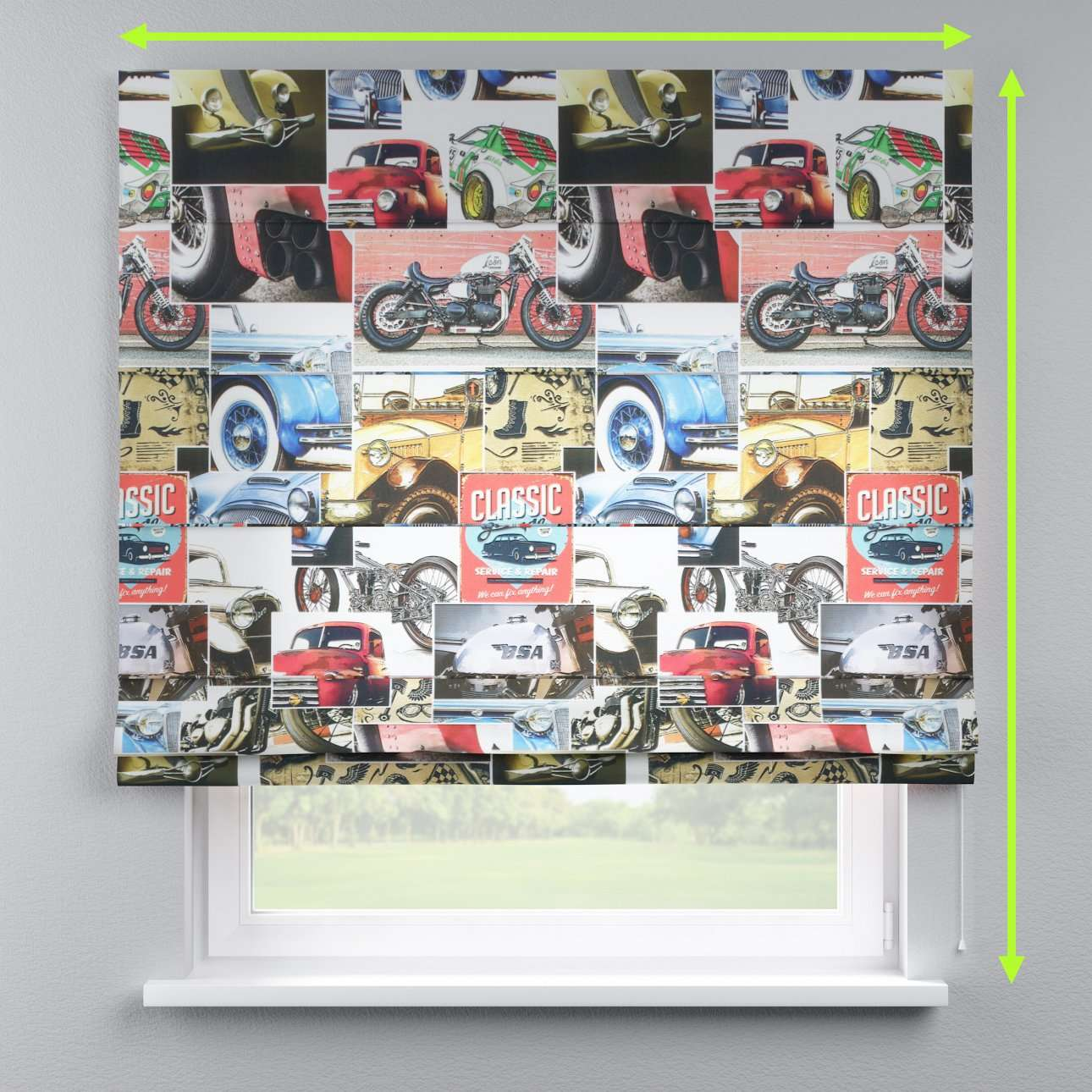 Capri roman blind in collection Freestyle, fabric: 140-57