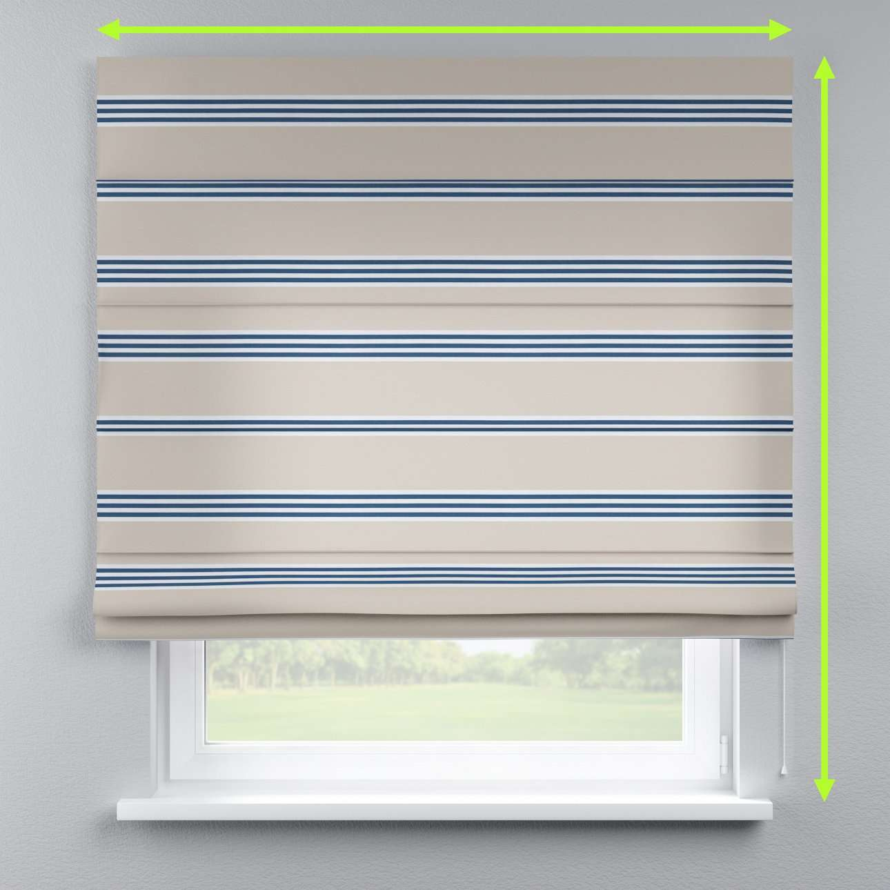 Capri roman blind in collection Marina, fabric: 140-60