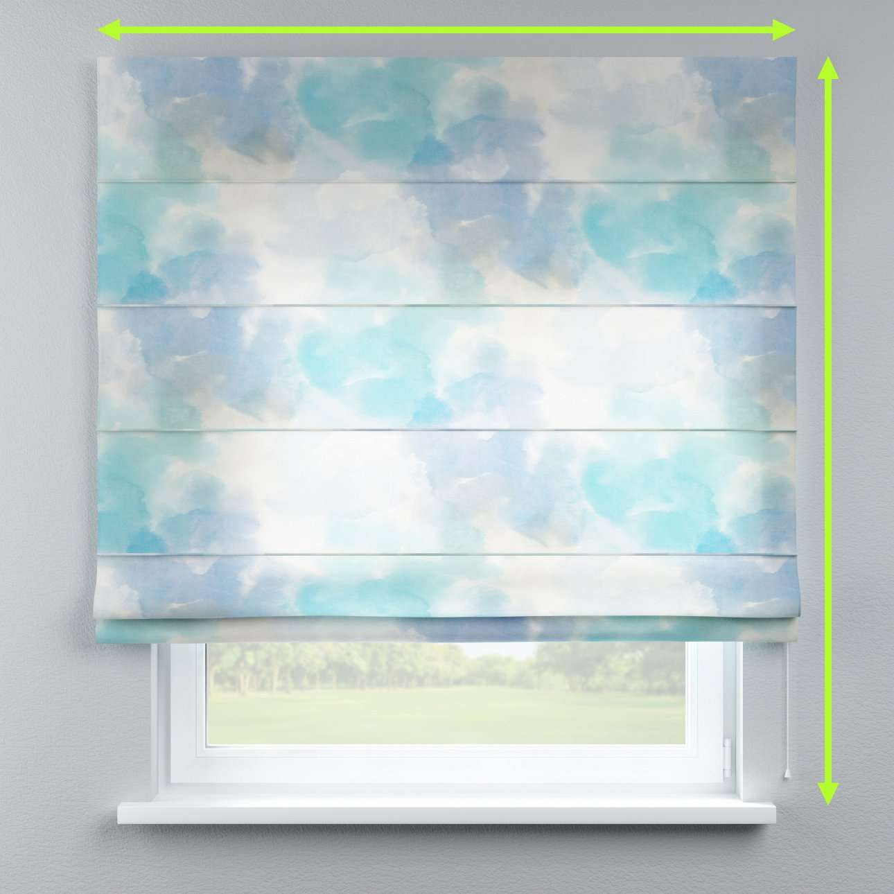 Capri roman blind in collection Aquarelle, fabric: 140-67