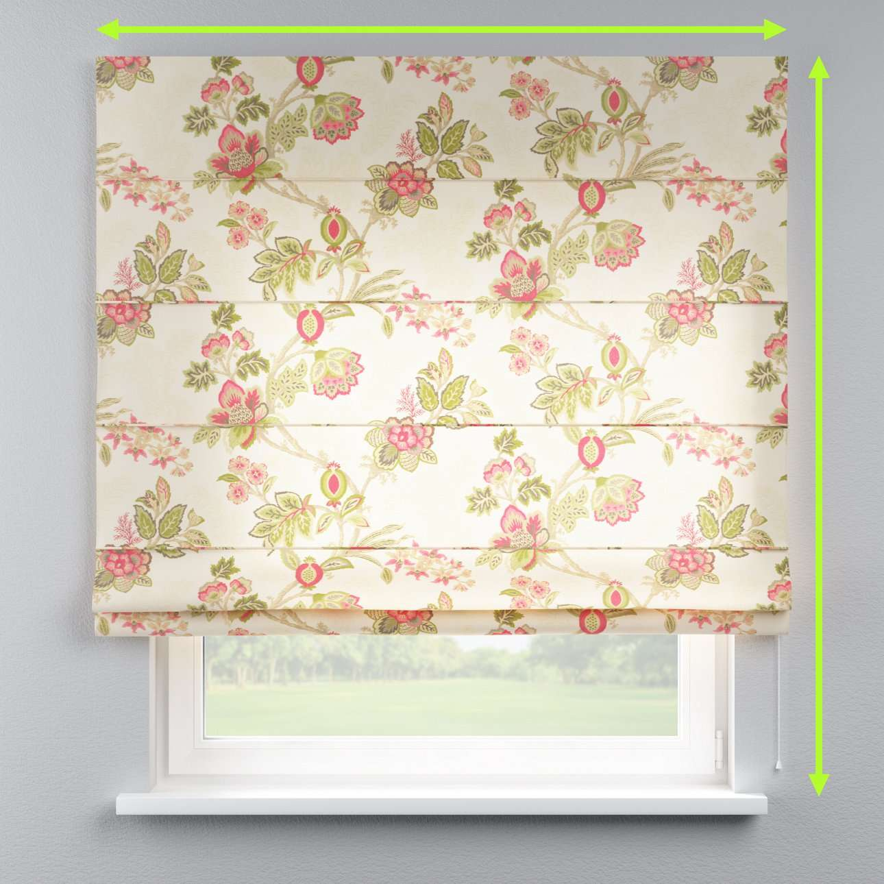 Capri roman blind in collection Flowers, fabric: 140-98