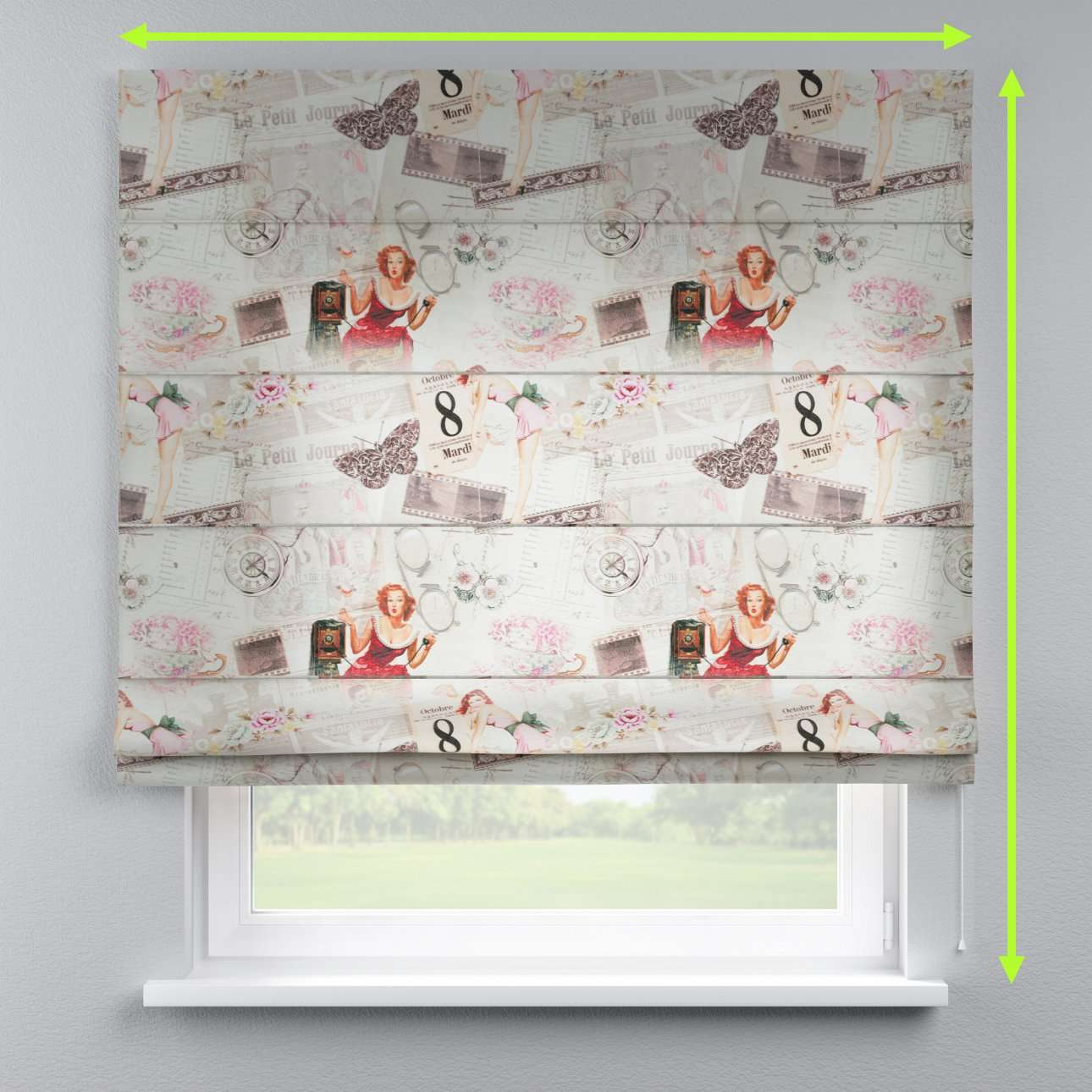 Capri roman blind in collection Freestyle, fabric: 140-99