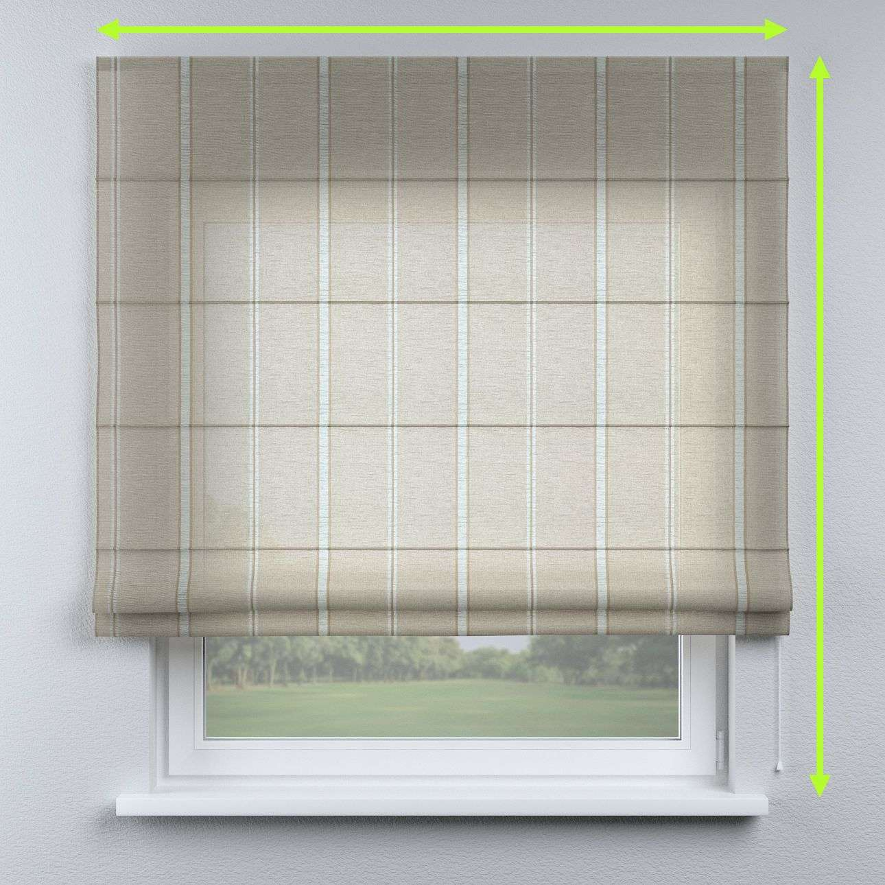 Capri roman blind in collection Romantica, fabric: 141-32