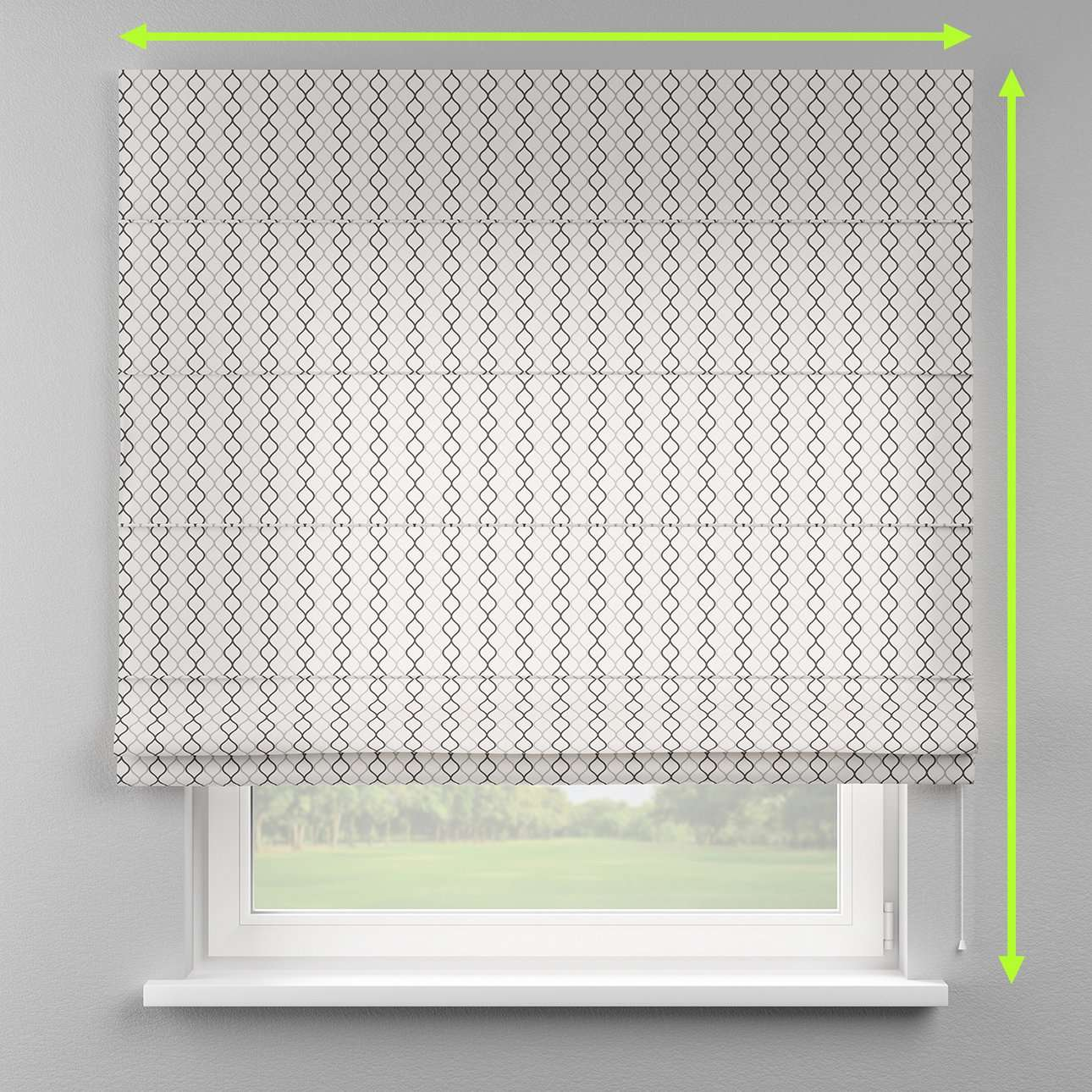 Capri roman blind in collection Geometric, fabric: 141-46