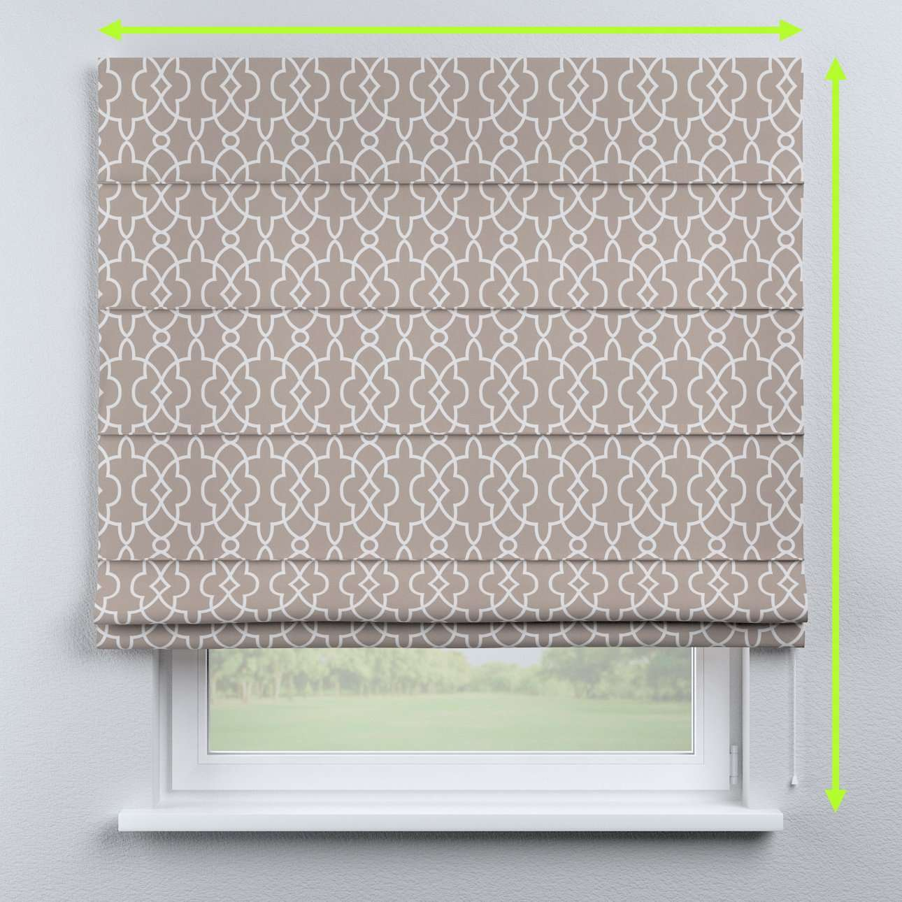 Capri roman blind in collection Gardenia, fabric: 142-20