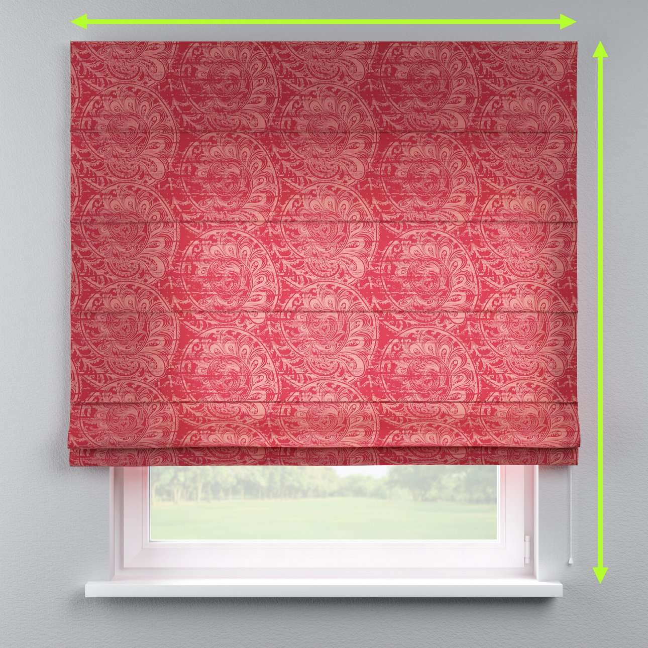 Capri roman blind in collection Mirella, fabric: 143-06