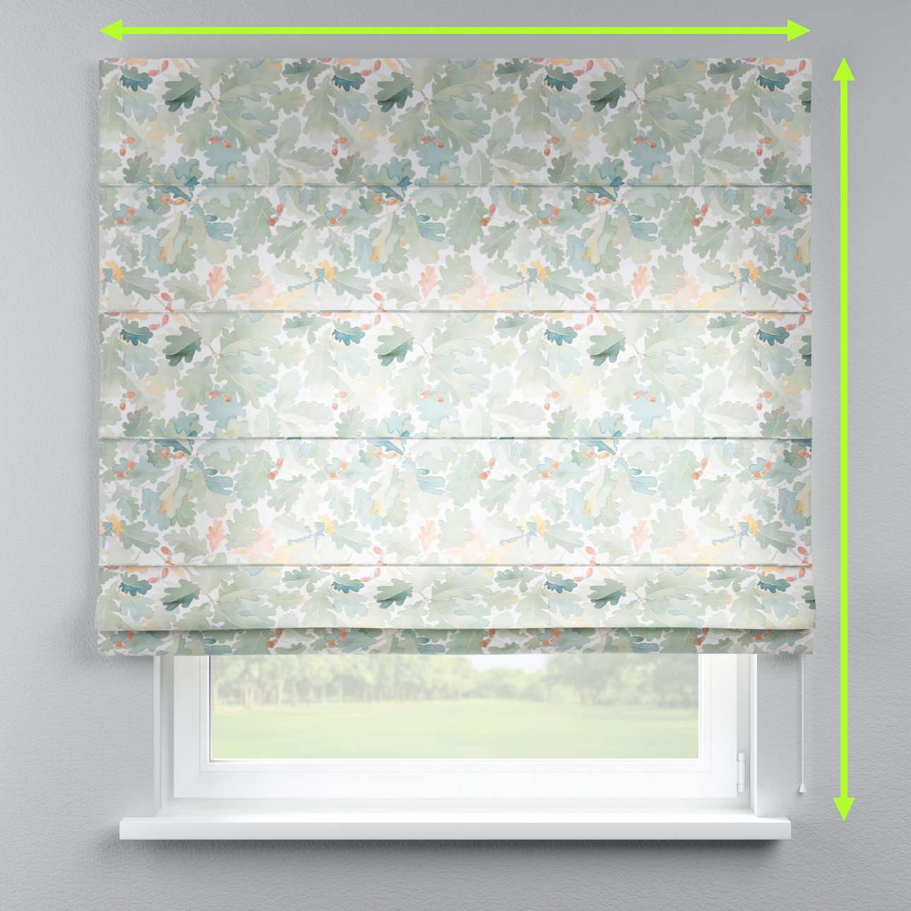 Capri roman blind in collection Norge, fabric: 150-17