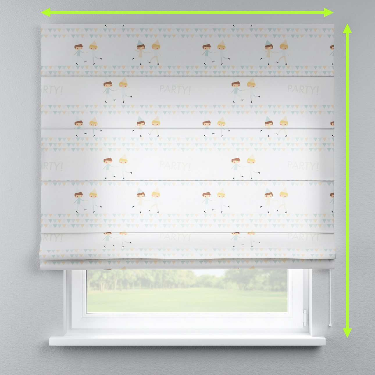 Capri roman blind in collection Apanona, fabric: 151-01