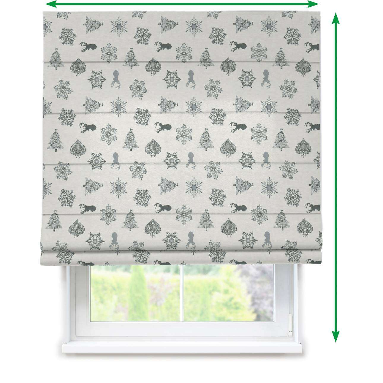 Capri roman blind in collection Christmas, fabric: 630-24