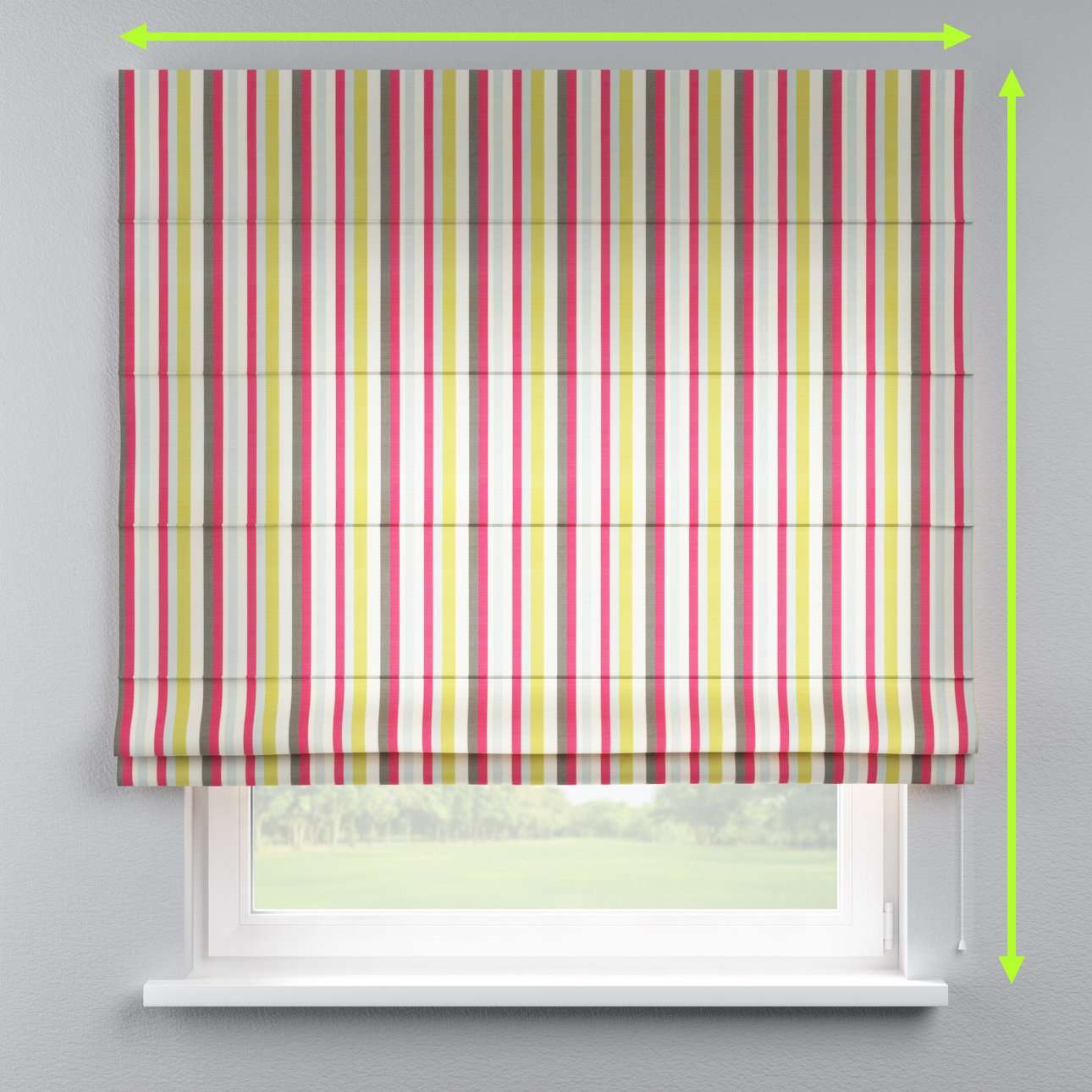 Capri roman blind in collection Flowers, fabric: 140-81