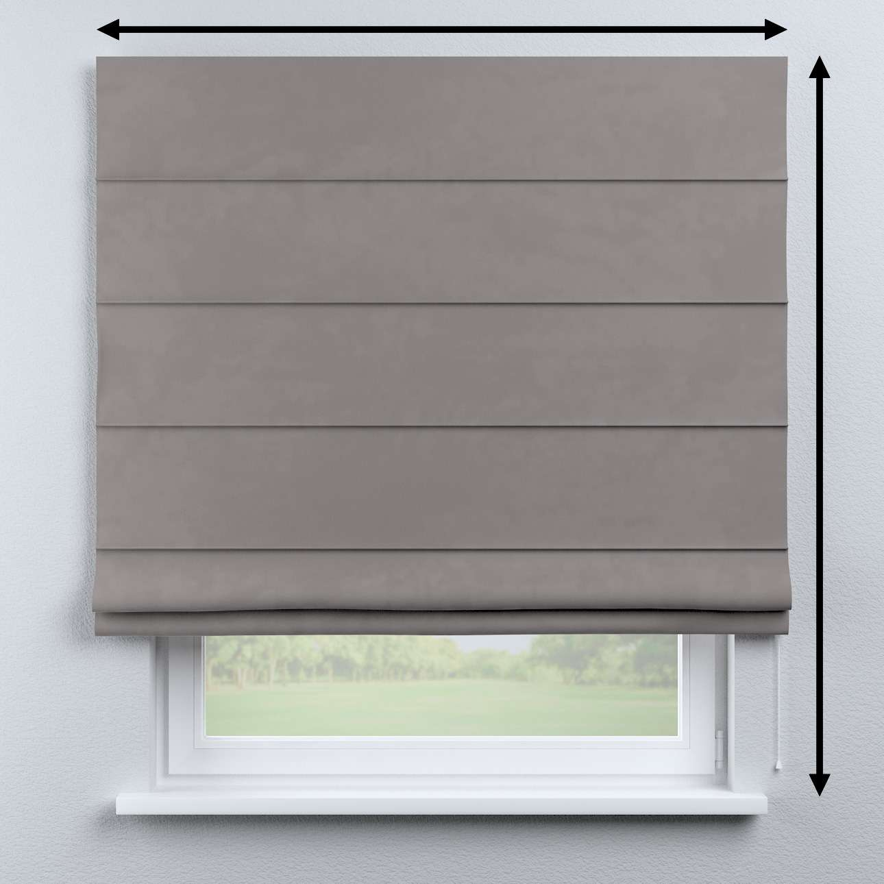 Capri roman blind in collection Velvet, fabric: 704-11