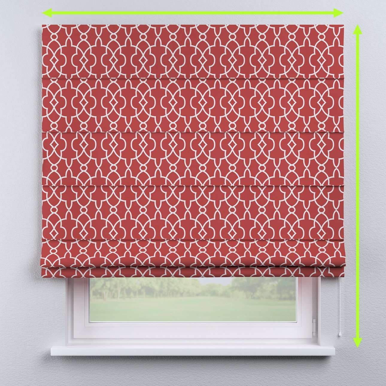 Capri roman blind in collection Gardenia, fabric: 142-21