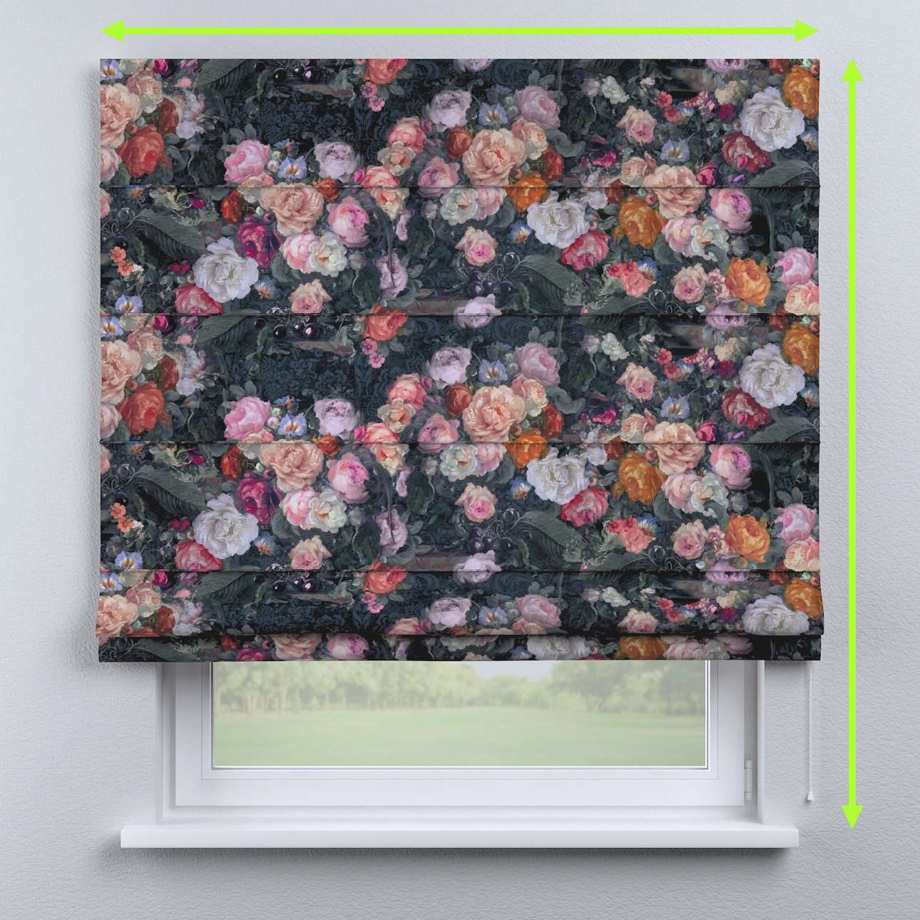 Capri roman blind in collection Gardenia, fabric: 161-02